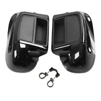 Black Lower Vented Fairing Glove Box Fit For Harley Electra Road Glide 14-20