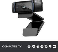 Logitech C920x Pro HD Webcam - Black - Ships Immediately - Brand New