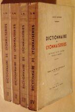MAYNARD Louis - DICTIONNAIRE DE LYONNAISERIES - COMPLET - EDITION ORIGINALE 1932