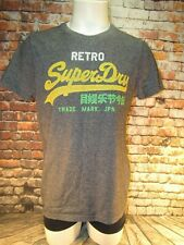 Men's Retro SuperDry Japan T-Shirt - Grit Gray - XL - Vintage Style