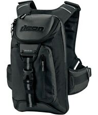 ICON SQUAD 3 BACKPACK WATER-RESISTANT MOTORCYCLE GEAR BAG LAPTOP POCKET BLACK