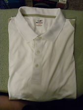 Men's Top Flite Golf Shirt Polo Shirt - 4X - White & Tan - NWOT - EB35