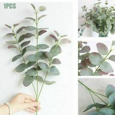Artificial Fake Leaf Eucalyptus Green Plant Leaves Flower Home Decor 4 Head