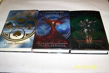 The Looking Glass Wars, Trilogy, Frank Beddor, three volumes,SIGNED, hardcover
