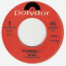 "The Who, My Generation, NEW* 1980 DUTCH import re-issue jukebox 7"" vinyl single"