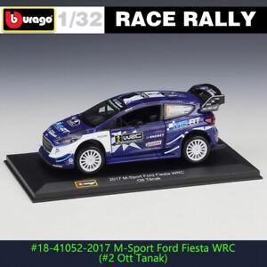 BBURAGO 1:32 Ford fiesta wrc #2 DS WRC rally car alloy model