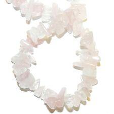 "GC137f Pink Rose Quartz Medium (10-17mm) Chip Natural Gemstone Beads 15"""