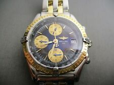 BREITLING CHRONOMAT AUTOMATIC D13050.1 18kK YELLOW GOLD & STAINLESS STEEL WATCH