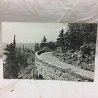 Vtg Postcard Sea Cliff drive Seal Harbor Maine Scene Mount Desert Island Jordan