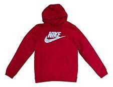 Nike Sportswear Men's Futura Club Fleece Pullover Hoodie Size Medium, Red