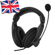 3.5mm Wired Stereo Headphone Earphone Customer Service Earbuds with Mic For PC