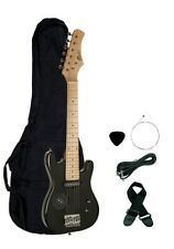 """NEW Raptor 30"""" 1/2 Size Kid's Electric Guitar Pack - Black with Built In Speaker"""