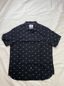 Cactus Man Short Sleeve Shirt with Bicycle Print Mens casual shirt - Size XL