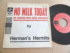 """DISQUE 45T DE HERMAN'S HERMITS  """" NO MILK TODAY """""""
