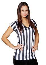 Mato & Hash 12 Ladies V-Neck Referee Bar Shirt Uniform Ref Costume