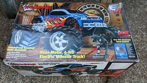 **USED 1/10 TRAXXAS E MAXX DUAL MOTOR MONSTER TRUCK 4WD 4X4 RC CAR EXTRA PARTS**