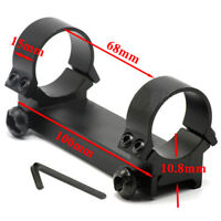 Tactical Low Profile 30mm Double Ring Tube Rifle Scope Mount Fits 20mm Rail