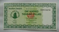 SIMBABWE ZIMBABWE 100,000 100000 DOLLARS 2006 P 32 UNC