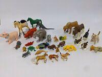 Lot of 30 Animal Safari Cat Dog Dinosaur Toy Figures