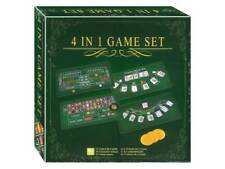 4 in 1 Game Set Blackjack Poker Roulette Craps With Bicycle Cards