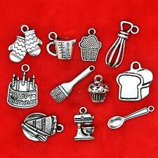 Tibetan Silver Baking Cooking Theme Charm Pendant Bead Finding Jewellery Making