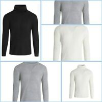 Turtle Neck Mens Knit Winter Warm Casual Sweater Pullover Jumper Knitwear