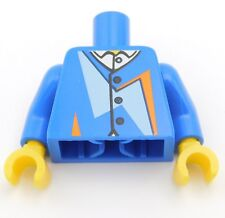 Lego New Blue Minifigure Torso with Undershirt and Buttons Pieces