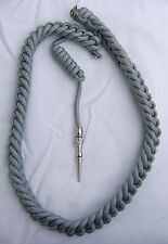 USAF HONOR GUARD DRESS AIGUILLETTE SHOULDER CORD- SILVER LUMINETTE COLOR:K1