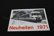 E206 Catalogue vintage Train Ho RÖWA Neuheiten 1971 4 pages Allemand