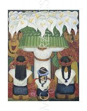 "DIEGO RIVERA - FLOWER FEST: FEAST OF SANTA ANITA,1931-ART PRINT 14"" x 11"" (662)"