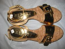 REPORT WOMEN PLATFORM WEDGE SANDAL SAMPLE SHOES SIZE 6 (G65)