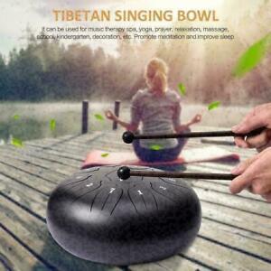 10 Zoll 11 Töne Drum Handpan Hand Pan tankdrum Zungen Trommel Yoga mit Tasche DE