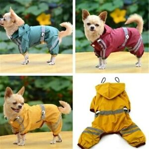 Puppy Dog Raincoat Jacket Safety Vest Dog Clothes Pet Cat Glisten Hoody Dog Coat