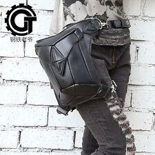 Men Women Rock Leather Retro Vintage Gothic Steam-Punk Shoulder Waist Bag #5