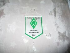 """Werder Bremen Original gedruckter 70iger Jahre Wimpel """"Erfolge"""" Neu"""