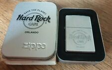 ZIPPO LIGHTER HARD ROCK CAFE  ORLANDO SAVE THE PLANET OFFICIAL Silver Chrome