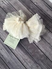 PERSNICKETY Girl Fall Winter Cream Cuffs Large Child NWT Boutique