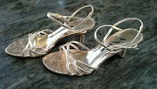 Nina Metallic Golden Size 6.5 (36.5) Strappy Sandals