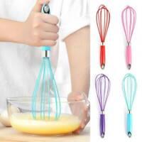 Stainless Steel Rotating Hand Press Egg Whisk Whip Mixer Egg Beater Blender Tool