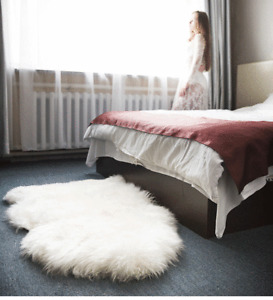 100% Natural Sheepskin Rug Soft Natural  Fluffy  Wool Rug Carpet Seat pads