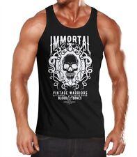 Caballeros Tank-Top calavera Immortal Skull vintage Warriors slim fit camisa muscular
