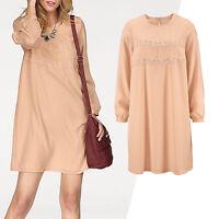genial Kleid CASUAL ABEND Büro Gr.46/48 Rosé Nude Puder Marken ALLROUNDER Tunika