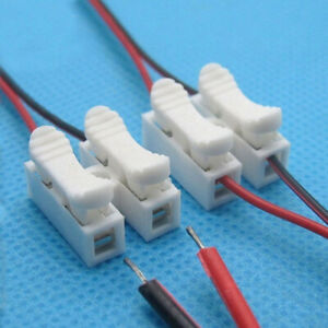 10 x Spring Wire Connectors Electrical Terminal Block Connector 2 port ✅