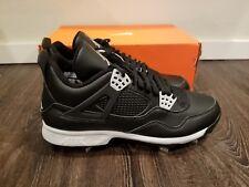 New Nike Air Jordan IV 4 Retro Baseball Cleats Oreo Sz 9