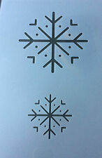 Christmas snowflake snow star Mylar Reusable Stencil Airbrush Painting Art Craft