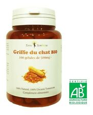 Griffe du Chat BIO - 100 gélules de 500 mg Biologique - Immunitaire Rhumatismale
