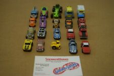Vintage Galoob Micro Machines Lot Of 20 Trucks Road Grader Race Car Construction