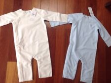 Ralph Lauren Baby Fleece Coverall Size 9 Month 2 Piece Lot Blue and White NWT
