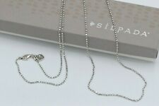 Silpada Sterling Silver Long Sparkly Ball Pendant Charm Necklace S3529 RARE HTF