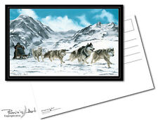 Postcard - Siberian Husky - Sleigh Ride - Lot of 2